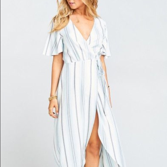 db604ff2ed90 Show Me Your MuMu Dresses | Marianne Wrap Dress Oasis Stripesmall ...